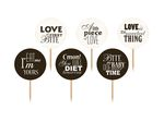Cupcaketoppers - Med text, 6-pack