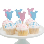 Cupcake Toppers Little Lady or Mini Mister,12-pack