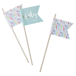 Cupcake sticks - Sprinkles, 10st