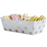 Food Trays - Gold Dots, 5-pack