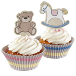 Cupcakeformar & toppers kit - Lullaby, 70 delar