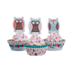 Cupcake toppers och formar - Patchwork Owl