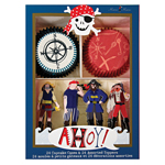 Cupcake kit, Pirate, 24-pack