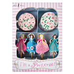 Cupcake kit, Princess, 24-pack
