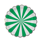 Assiette, Green stripe, 8-pack
