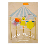 Cake toppers, Circus, 4-pack
