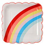 Tallrik, Rainbow,12-pack