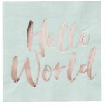 Servetter - Hello World - 20-pack