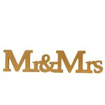 Mr & Mrs Bordsdekoration - Gold