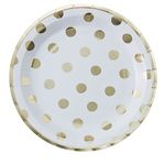 Tallrikar - Gold Dots - 8-pack