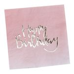 Servetter - Ombre - Happy Birthday - 20-pack