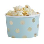 Treat tubs - Gold Dots Mint - 8-pack