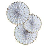 Pinwheel - Gold Dots - 3-pack