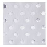 Servetter - Silver Dots - 20-pack