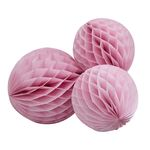 Honeycomb Balls - Rosa - 3-pack