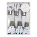 Party Horns - Tutor - Silver Holographic - 6-pack