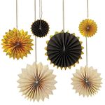 Pinwheels Black & Gold - 6 pack