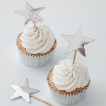 Cupcake Picks - Silver - 10-pack