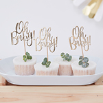 Cupcake Toppers - Oh Baby! - 12 pack