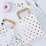 Party Bags - Gold Spots - 5 pack