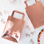 Party Bags - Roséguld - 5 pack