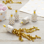 Party Poppers - Guld - 25 pack
