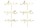 Cupcake toppers - Gold - 6-pack