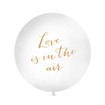 Jätteballong, Love is in the air, vit 90-100cm