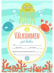 Inbjudningskort, 10-pack, fyll-i kort kalas,  Sea Friends