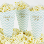 Popcornstrut, Baby Shower, Chevron Divine Mint