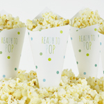 Popcornstrut, Baby Shower, Dots Blå