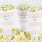 Popcornstrut, Baby Shower, Stripes Rosa