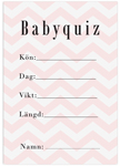 Baby Quiz, 10-pack, Baby Shower, Chevron Divine Rosa