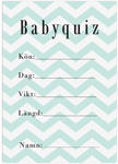 Babyquiz, 10-pack, Baby Shower, Chevron Divine Mint
