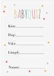 Baby Quiz, 10-pack, Baby Shower, Dots Multi