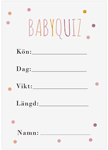 Baby Quiz, 10-pack, Baby Shower, Dots Rosa