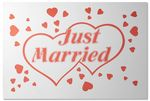 Just Married-skylt
