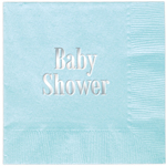 Servetter Baby Shower, Aqua, 20-pack