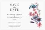 Save-the-date, Dazzling Flowers