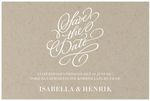 Save-the-date, Vintage Impression, natur