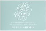 Save-the-date, Vintage Impression, aqua