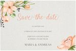 Save-the-date, Romantic Elegance