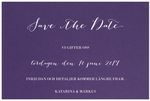 Save-the-date,<br>Stunning Lilac