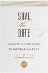 Save-the-date,<br>Stylized Impression