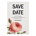 Save-the-date, Rose Sauvage