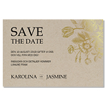 Save-the-date, Rustique d'or