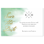 Save-the-date, Emerald Elegance