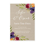 Save-the-date, Bohemian Bouquet