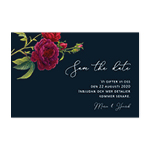 Save-the-date, Blooming Red Roses