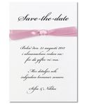 Save-the-date kort,<br>Pink Vogue